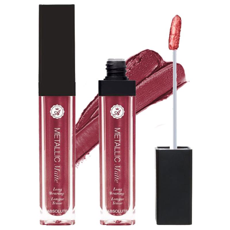 Absolute New York Matte Metallic Lip Gloss Rumble Red