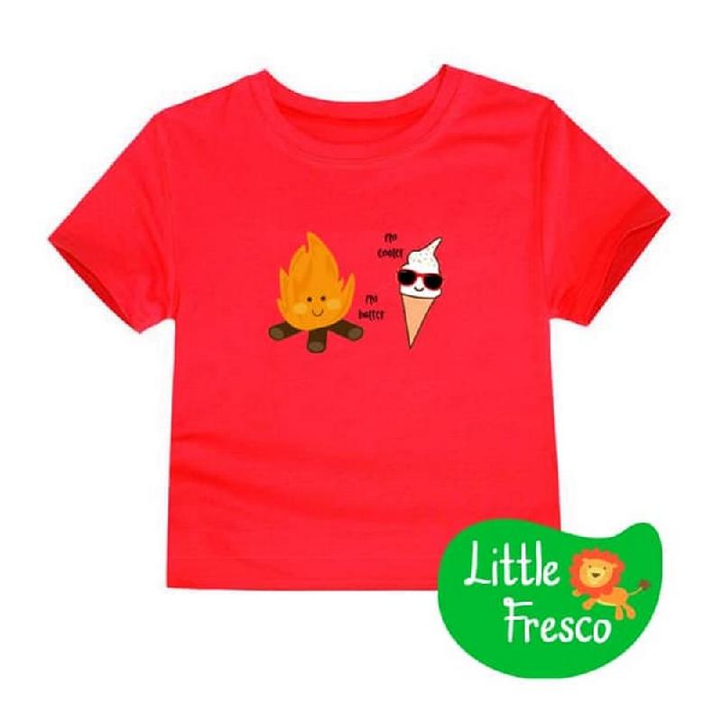 Little Fresco - Kaos Anak Merah Cooler Hotter
