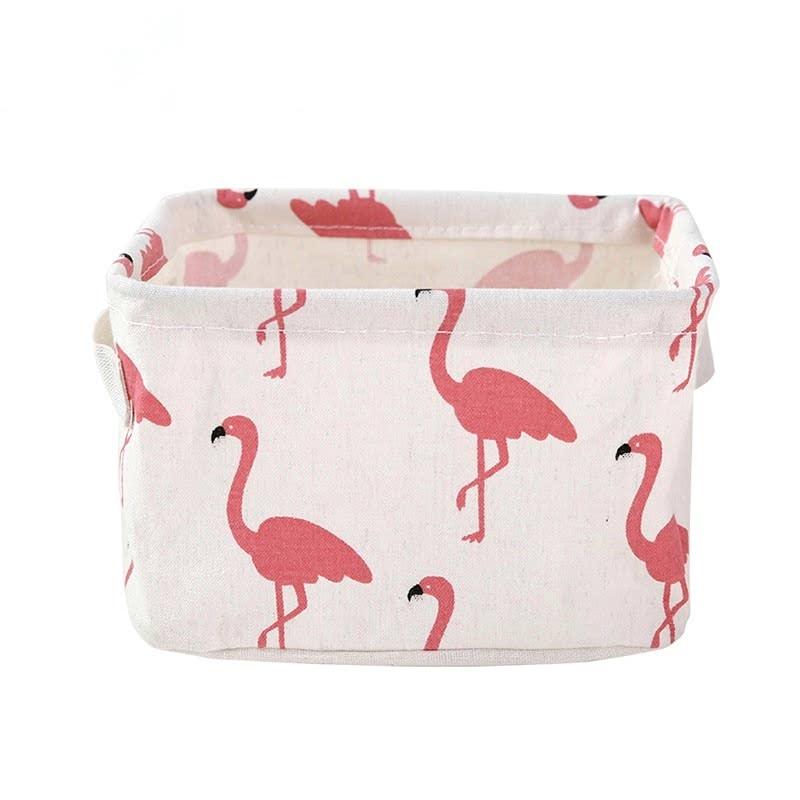 BabyLand Flamingo Linen Storage White FSW001
