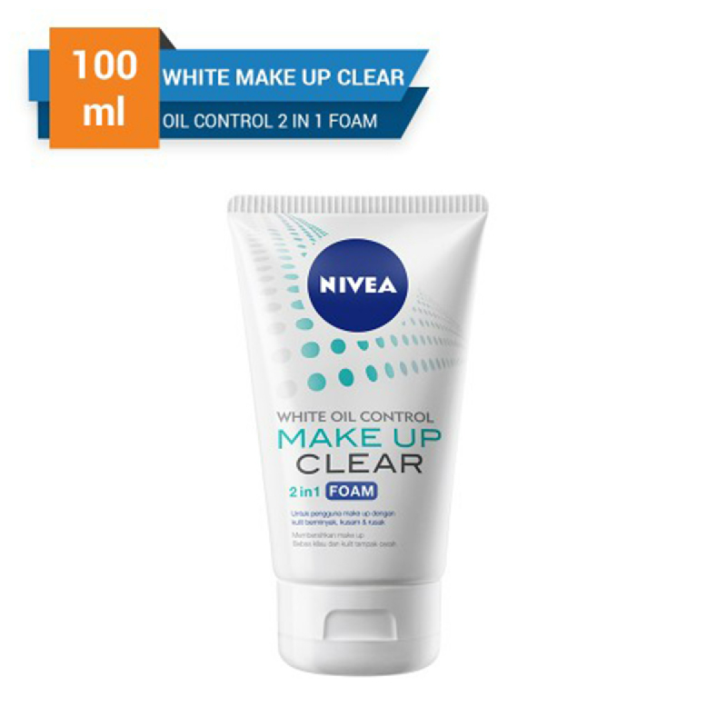 Nivea Make Up Clear 2in1 White Oil Control Foam 100 ml