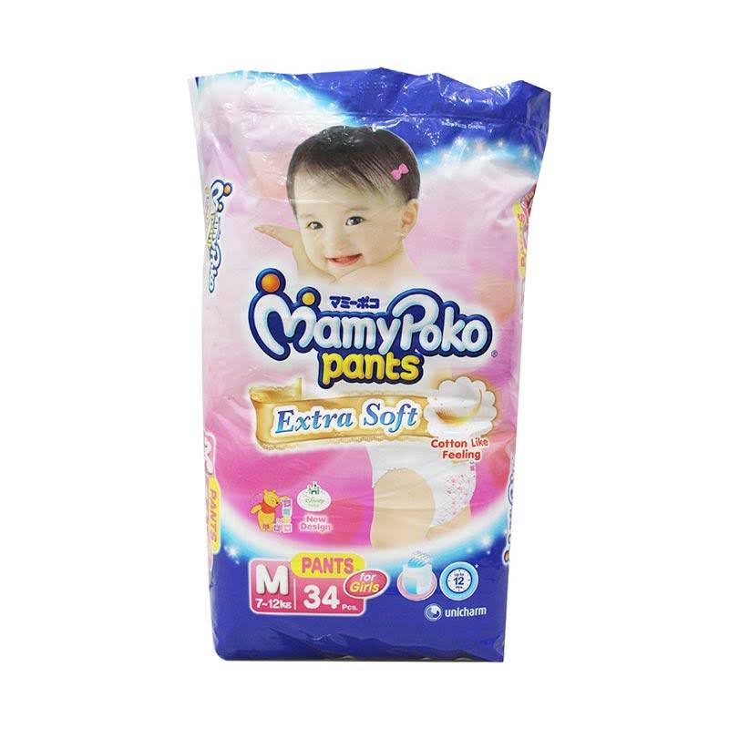 Mamypoko Diaper Pants Extra Soft Girl M 34S