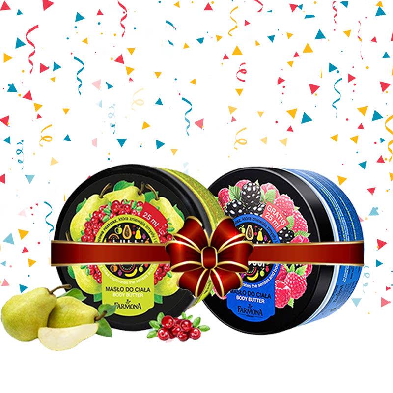 Tutti Frutti (Pear & Cranberry Body Butter 275ml + Blackberry & Raspberry Body Butter 275 ml)