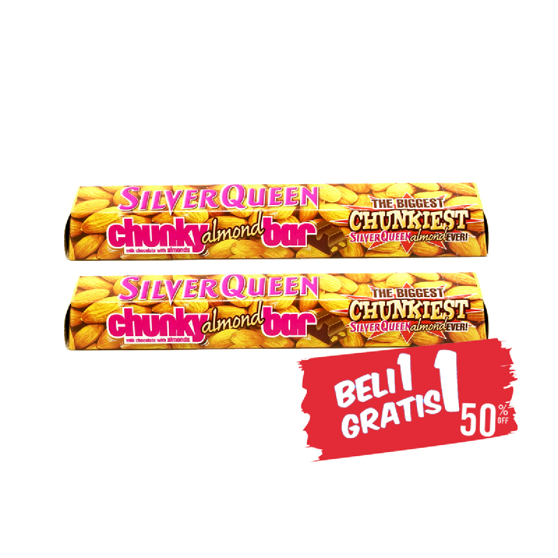 Silver Queen Chocolate Chunky Bar Almond 100G (Buy 1 Get 1)