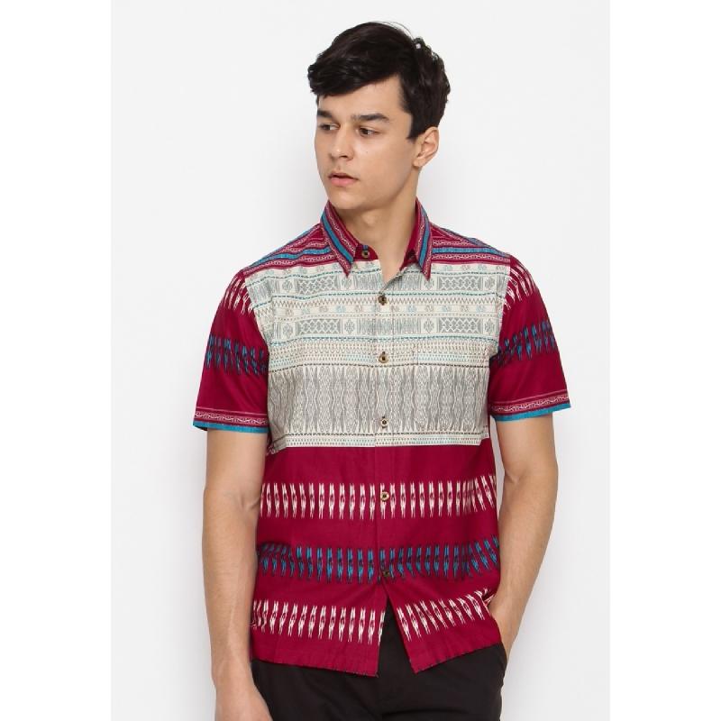 Batik Lengan Pendek HB-J-18703 Red