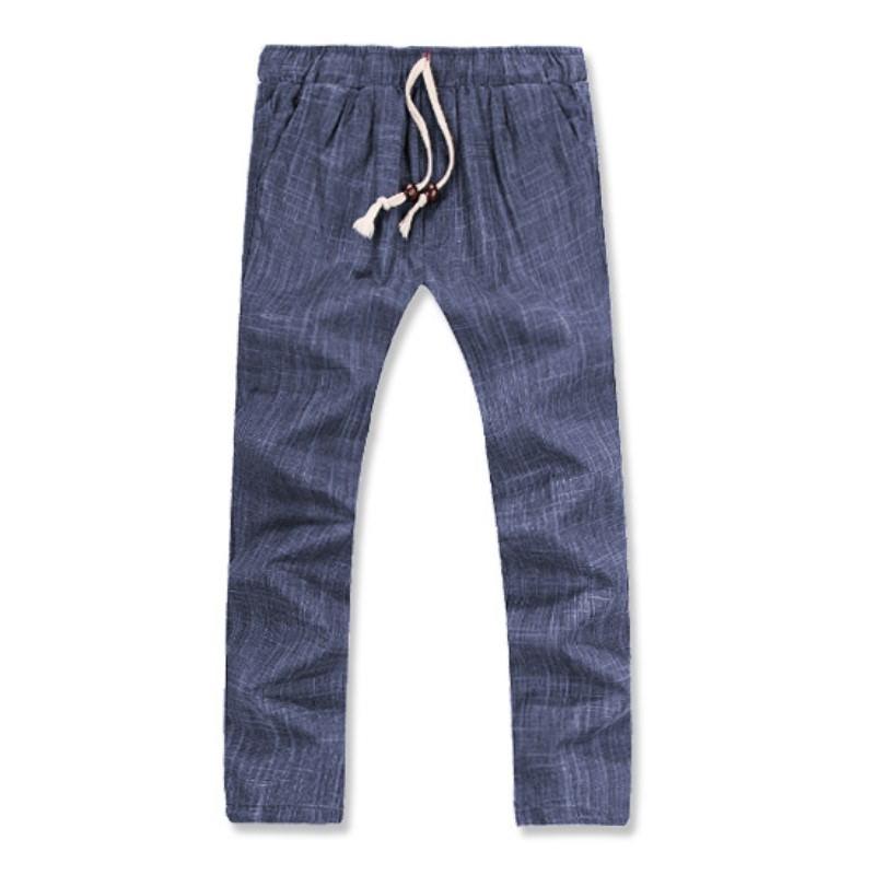 Lux Linen Washing Pants - Blue