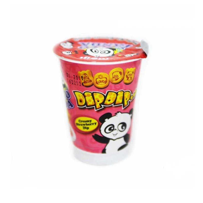 Meiji Hello Panda Dip Dip Strawberry 20 Gr