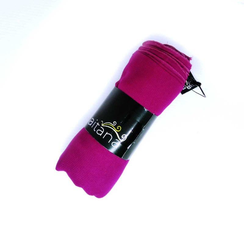 Ameera Pasmina Polos Merah Muda 115 X 115 Cm