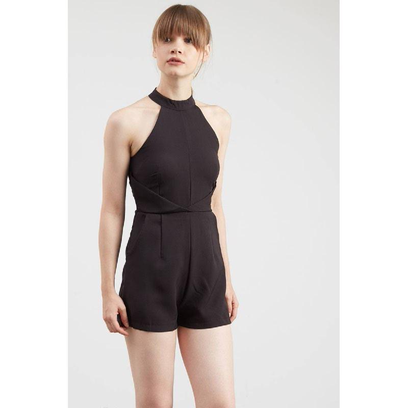 Gwen Kaiser Playsuit in Black