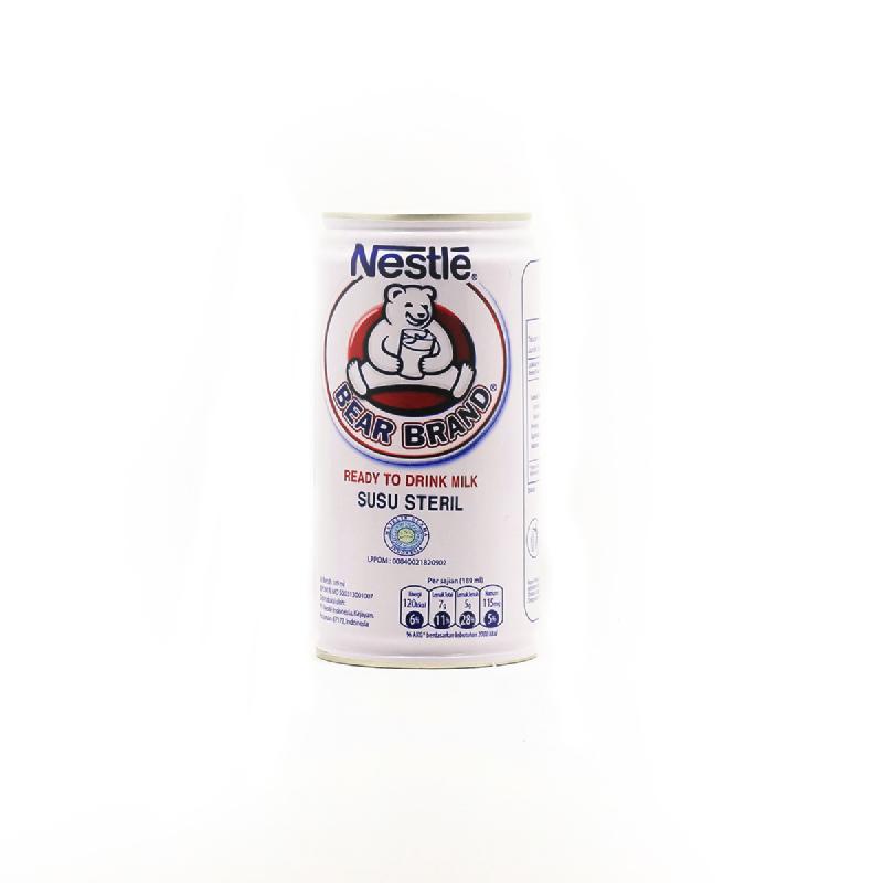 Bear Brand Rtd Milk Tin 189 Ml