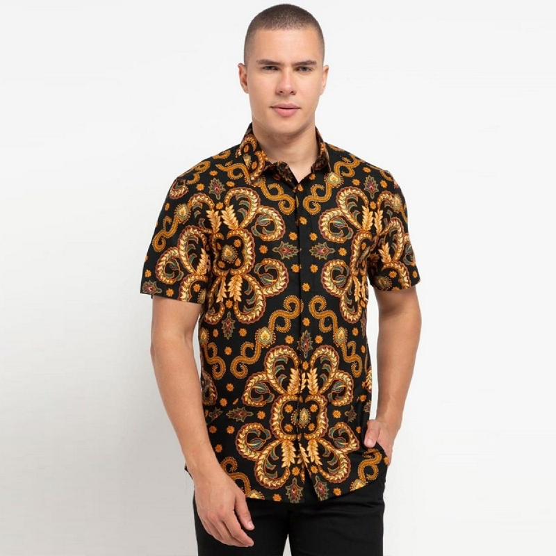 Arthesian Kemeja Batik Pria Purify Batik Printing Brown