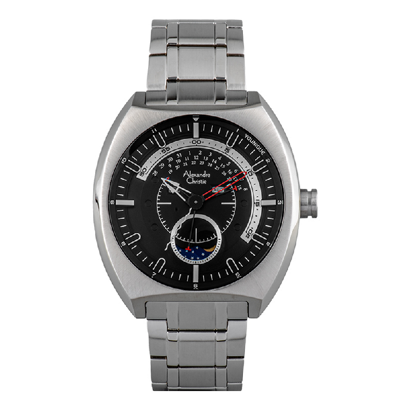 Alexandre Christie AC 6464 MC BSSBA Younique Man Black Dial Stainless Steel