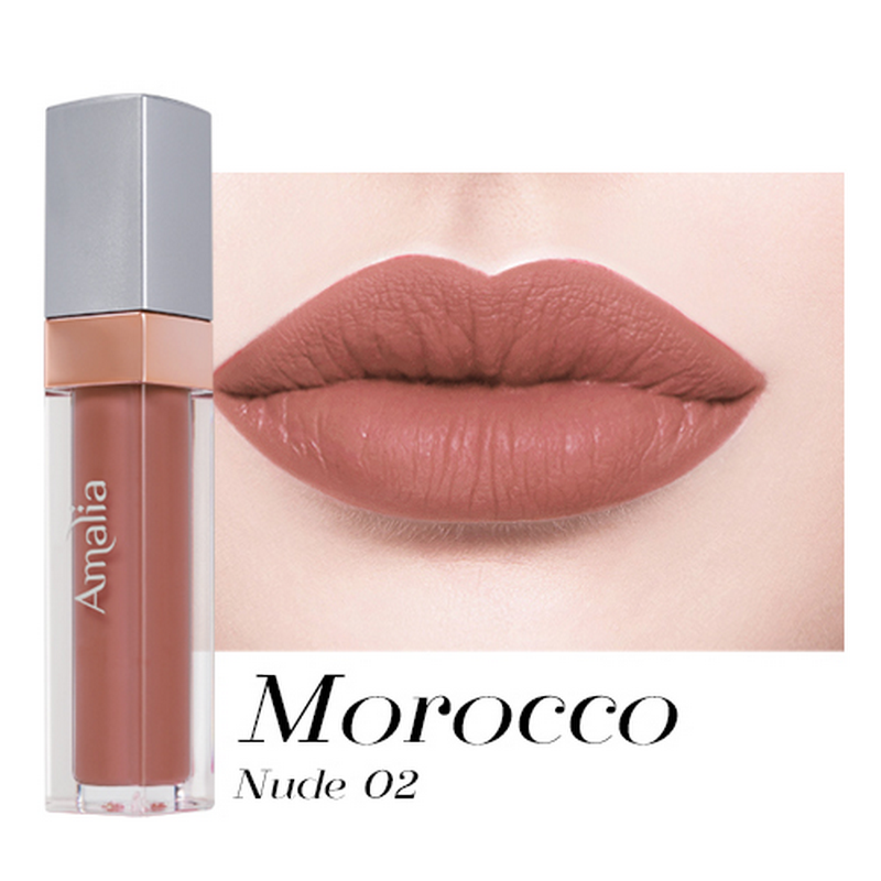 Amalia Matte Lip Cream Morocco Nude 02