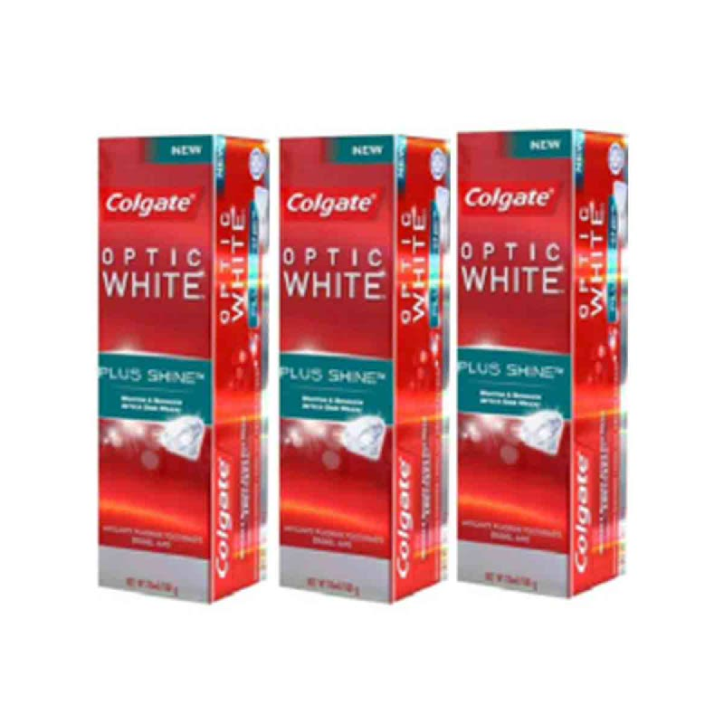 Colgate Toothpaste Optic White Plus Shine 100 Gr (Buy 2 Get 1)
