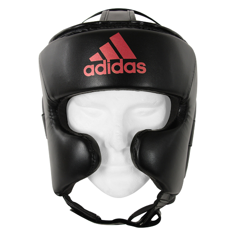 Adidas Combat Super Pro Training Head Guard Black Solar Red