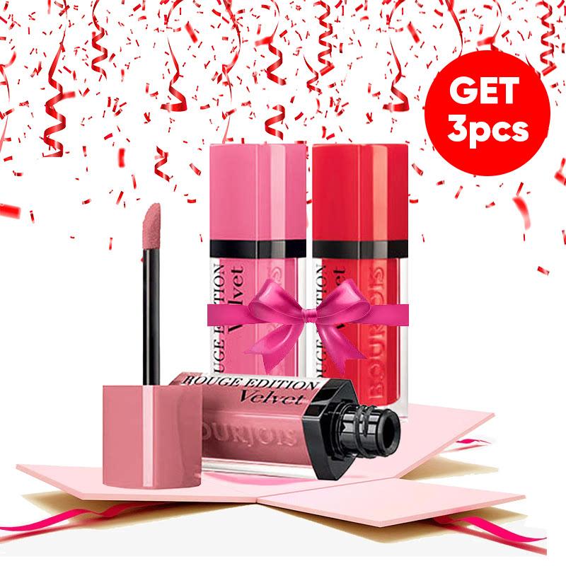 Bourjois Bundle Rouge Edition Velvet (Happy Nude Year + So Hap Pink + Hot Pepper)