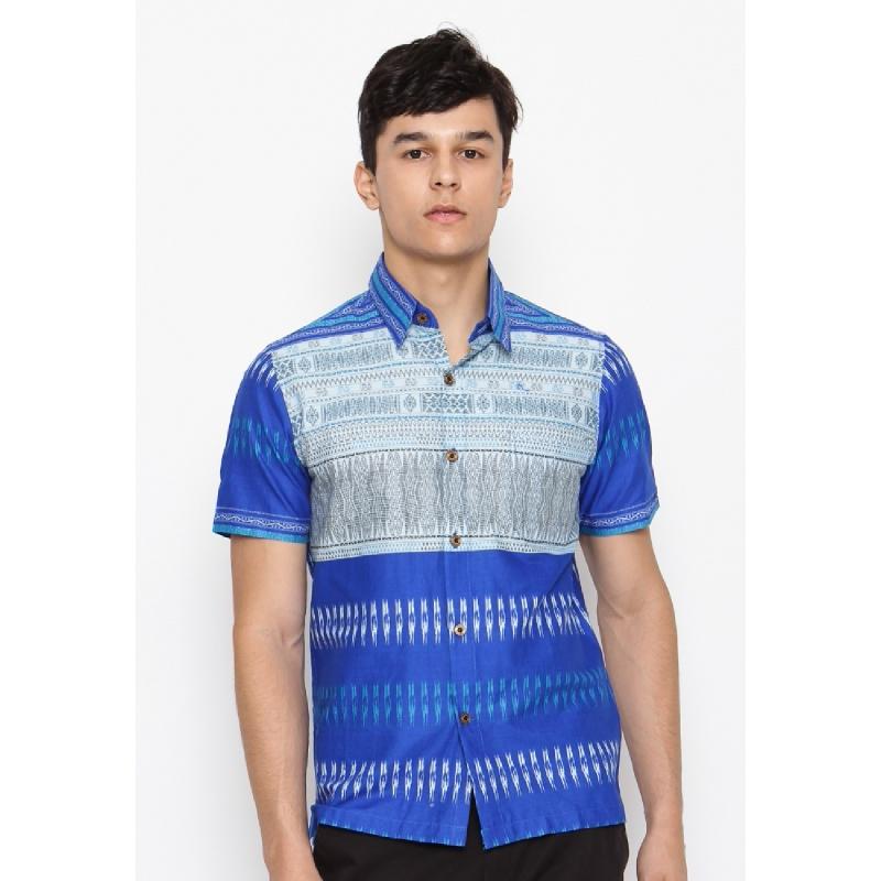 Batik Lengan Pendek HB-J-18703 Blue