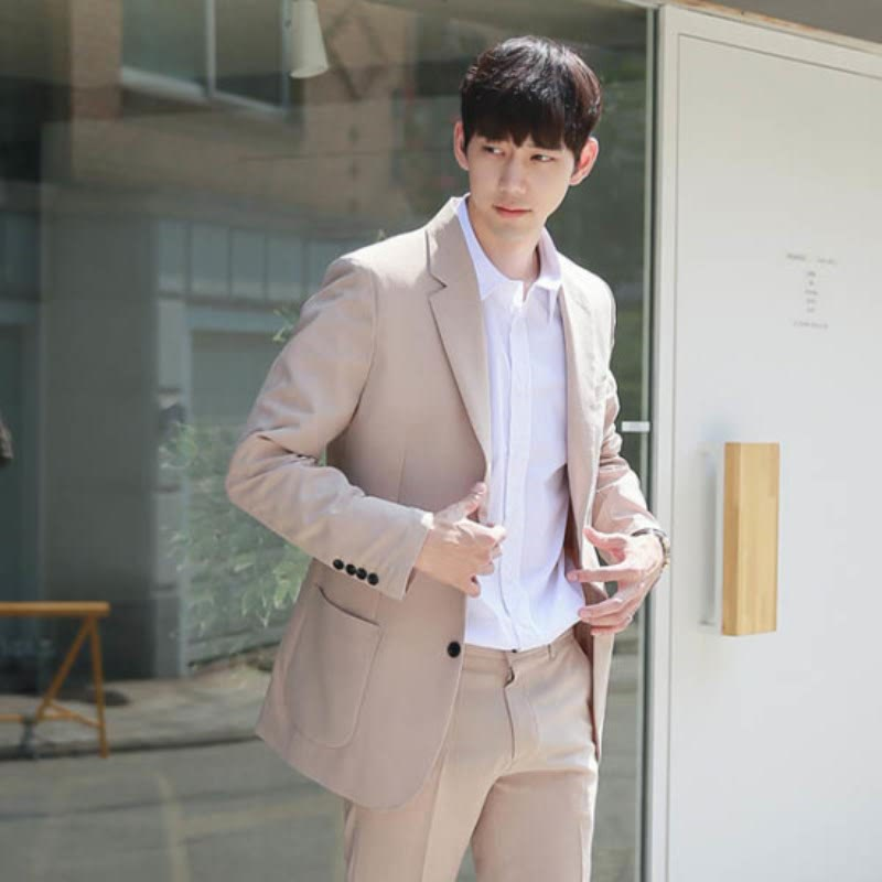 [BJ0812] Set-up Jacket - Beige