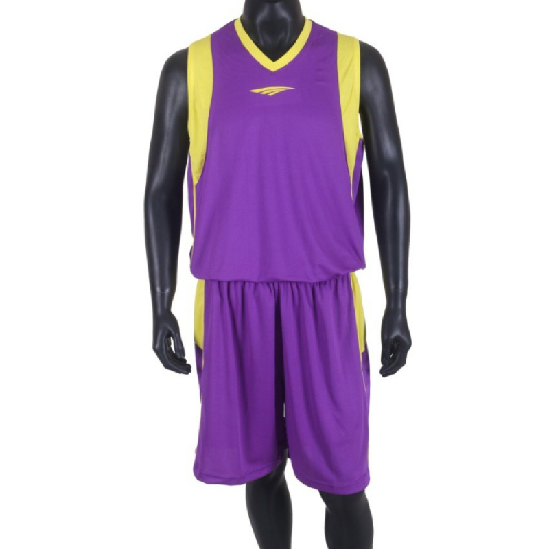 PROTEAM Jersey 3Line BBall Violet-Yellow