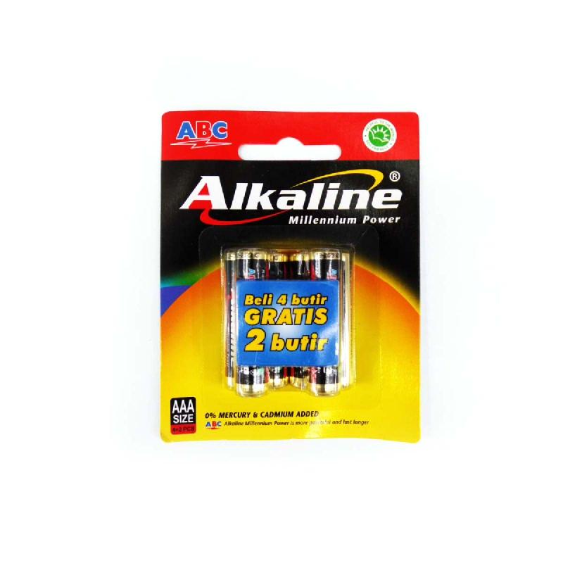 Abc Baterai Alkaline AAA LR-03 4B MP