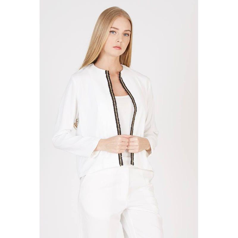 Oana Crop Jacket White