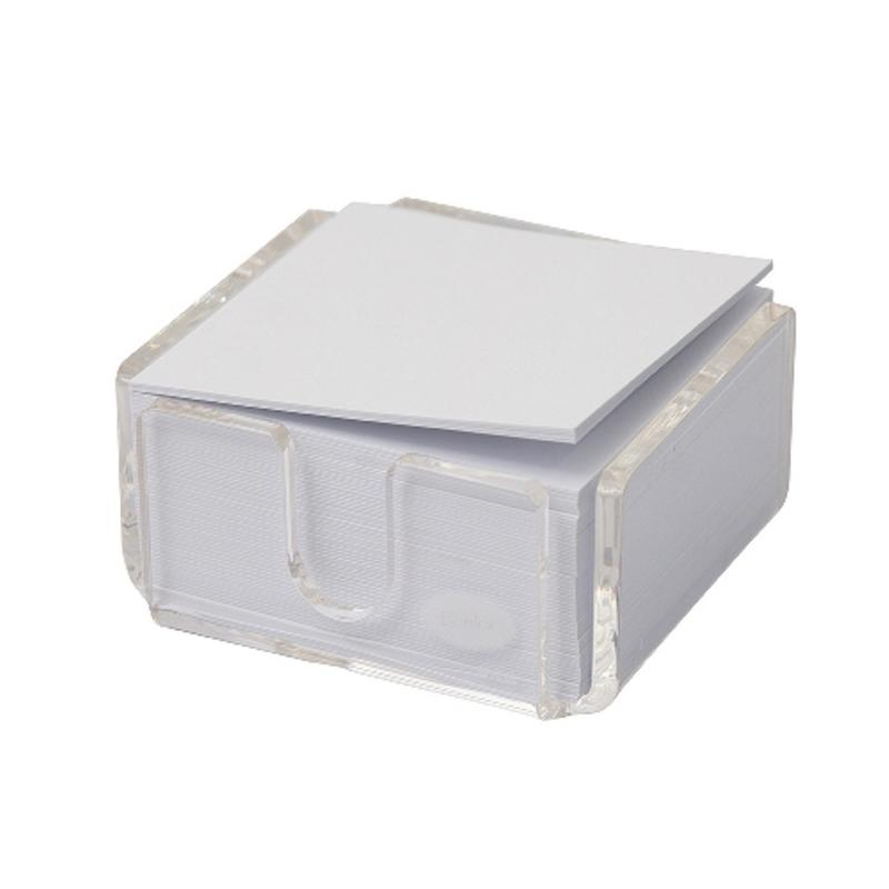 Bantex Acrylic Memo 0.5 Cube White 80 gr -8860 08