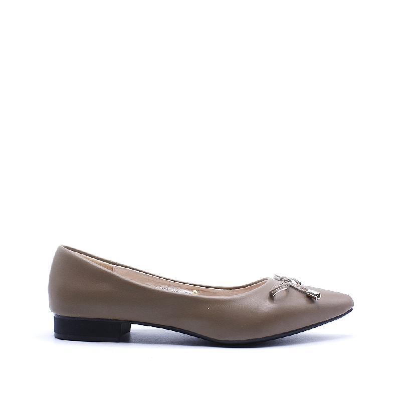 DEA Pointed Flat Shoes 1808-044 Khaki