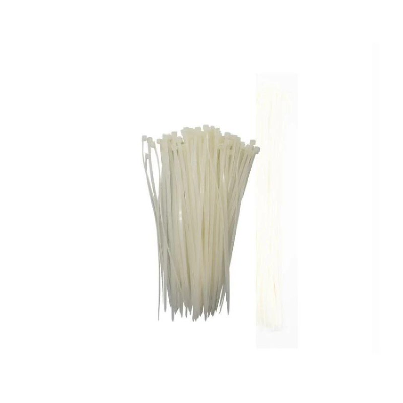 Kenmaster Cable Ties 3X15cmX100Pcs White  2 Pack