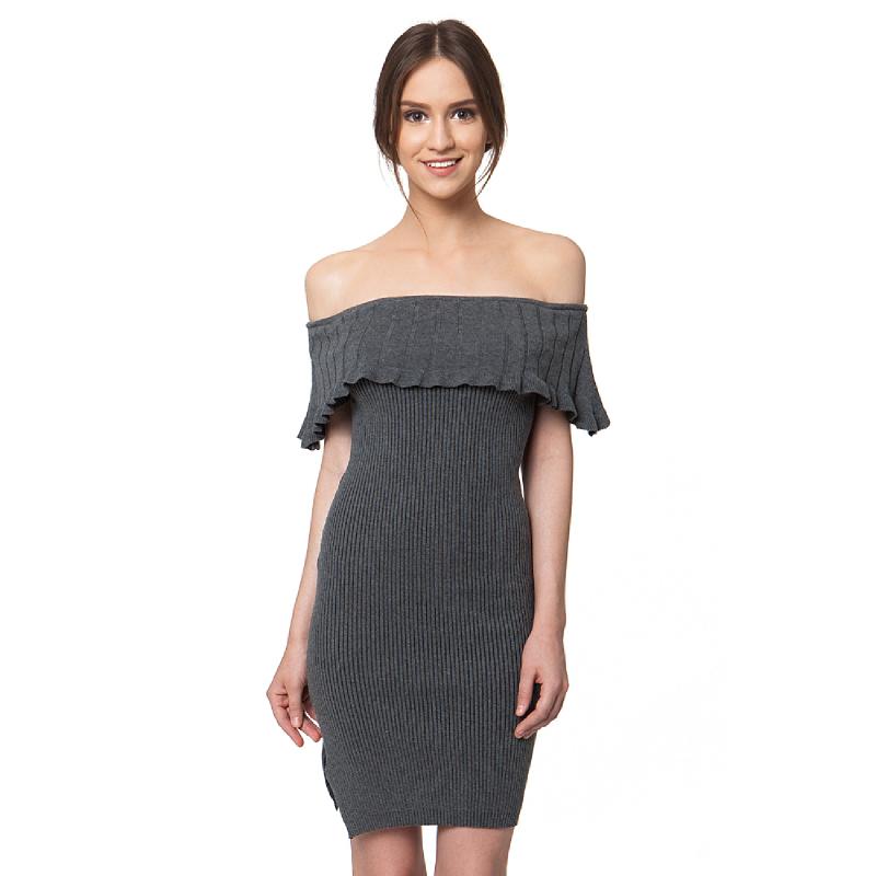 Misty Grey Sabrina Dress