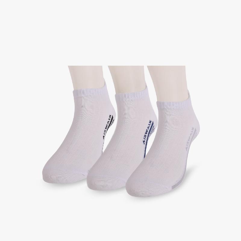 Airwalk 3 Packs Pablo Ankle Unisex Socks White