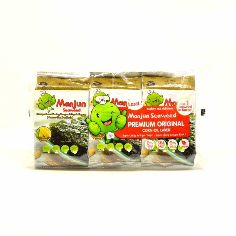 Seaweed Manjun Corn Oil 3 X 5 Gr