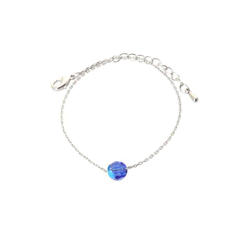 Korea Cocoa Jewelry Circle Cute Blue - Gelang Swarovski