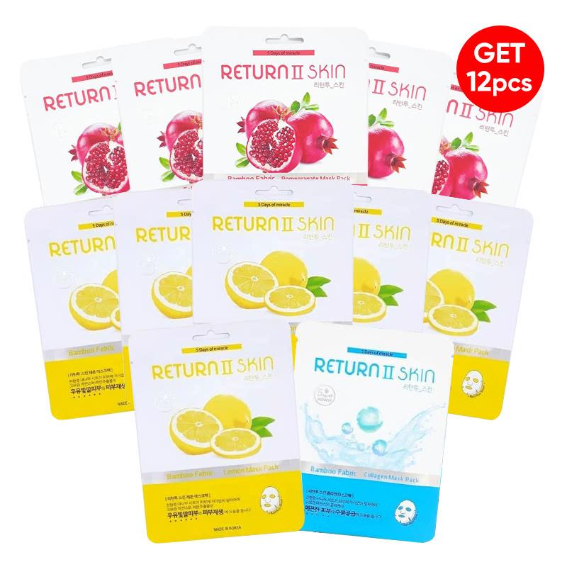 Cherimoa Return II Skin Pomegrande 5pcs + Cherimoa Return II Skin Lemon 5pcs Free 2pcs (Random)