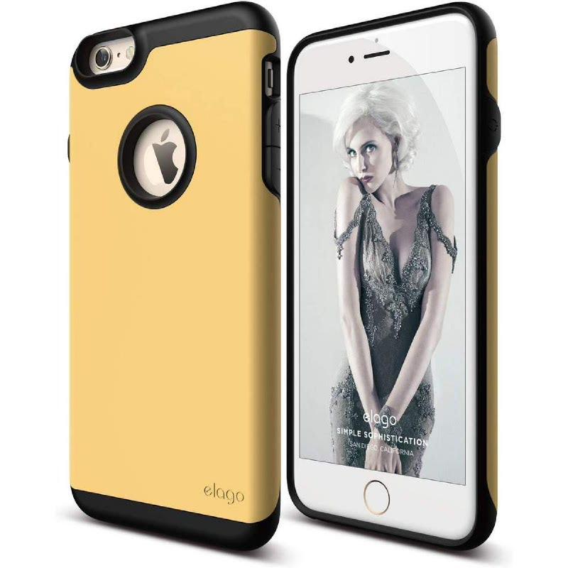 Elago Duro Gray Case for iPhone 6 Plus, 6S Plus - Matt Dark Gray + Creamy Yellow