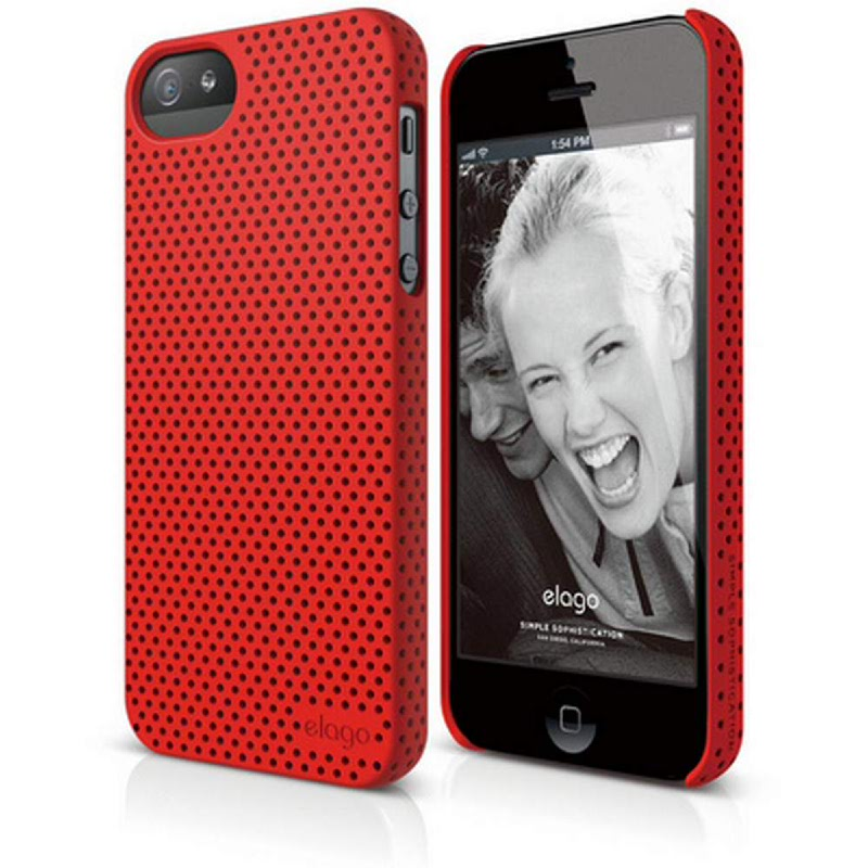 Elago Breath Case for iPhone SE, 5, 5S - SF Red