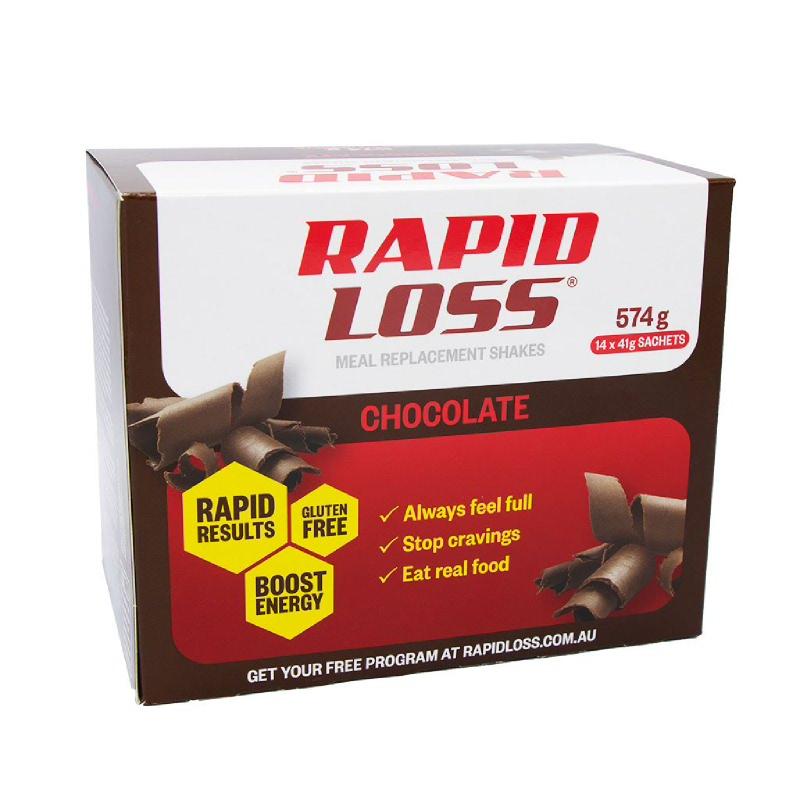Rapid Loss Chocolate MR Shakes 14 x 41g Sachets