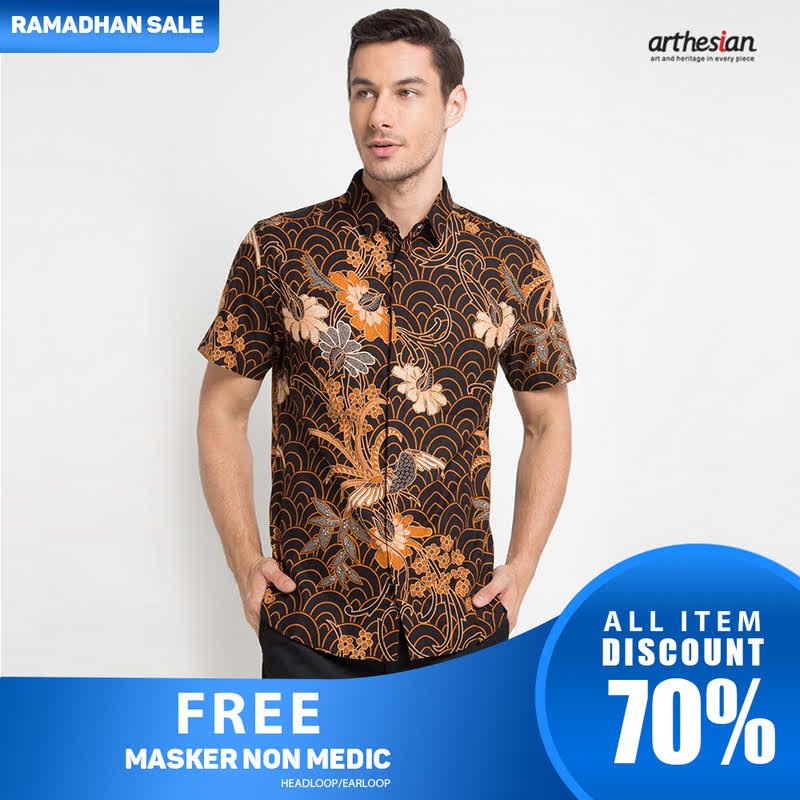Arthesian Batik Pria Abinaya Brown