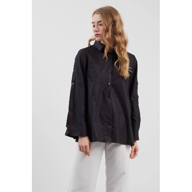 Shelby Button Shirt Black