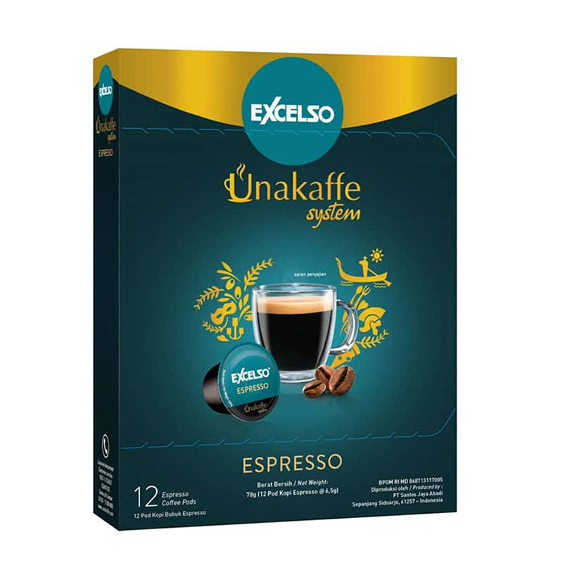 Excelso Unakaffe Espresso 12 X 6.5 Gr