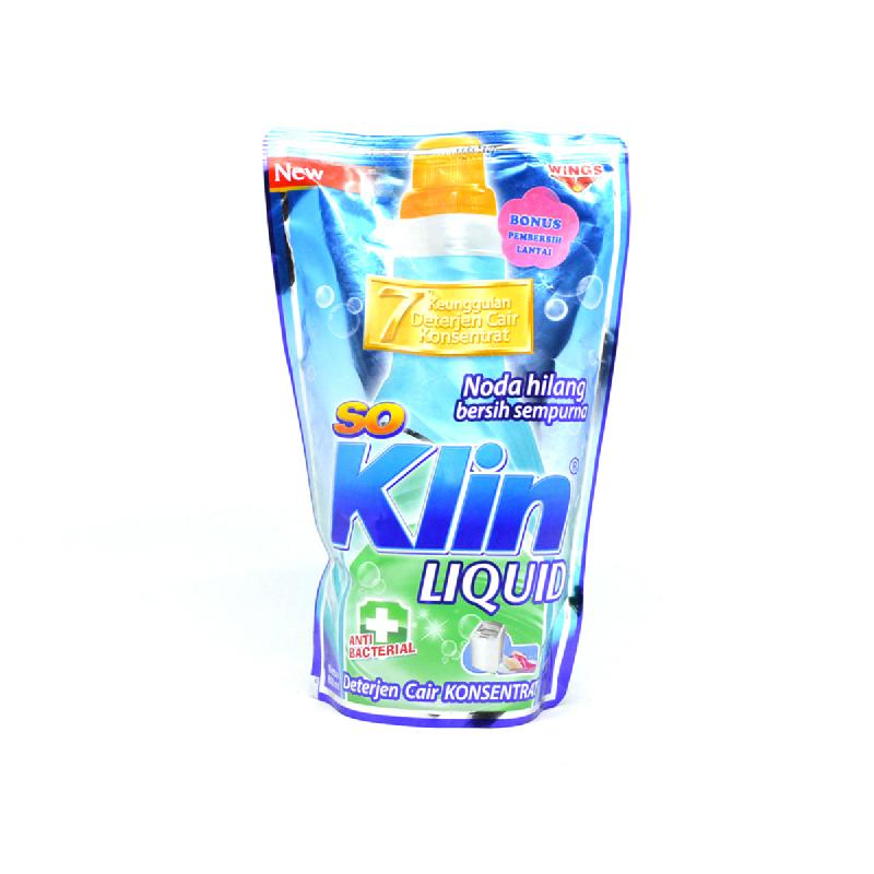 So Klin Detergen Cair Anti Bakteri Pouch 750 Ml