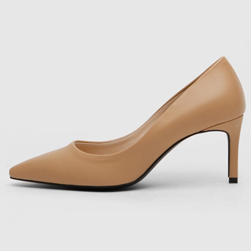 SAPPUN Kamelri Basic Stilettos (7cm) - Dark Beige