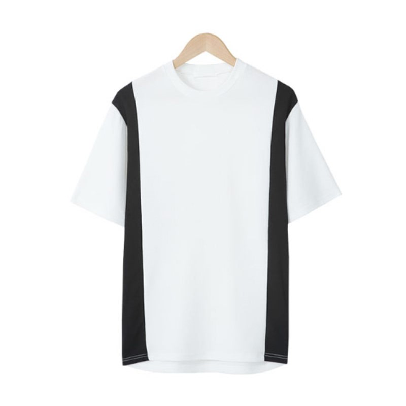 LE_Side Coloration Short Sleeve T-shirt - White