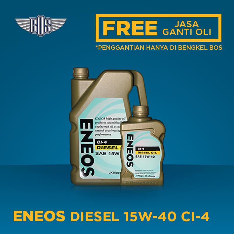 Eneos DIESEL OIL CI-4 Oli Mobil -  15W-40 - GALON -  Gratis Jasa Ganti Oli dan Check Up Kendaraan