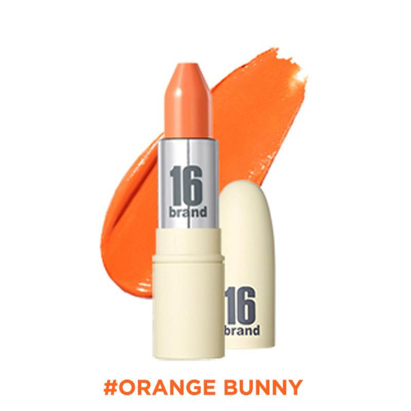 16brand RU Lipstick Glossy - Orange Bunny