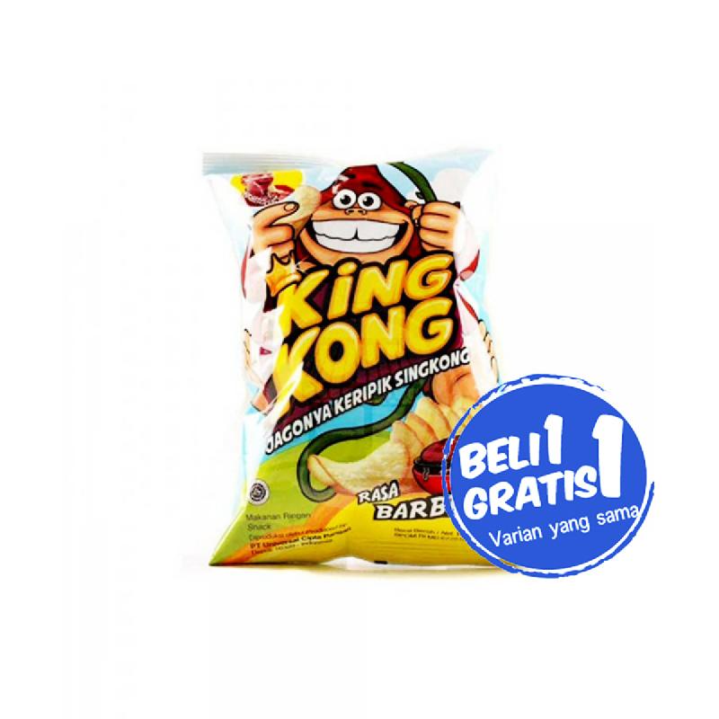 Kingkong Keripik Barbeque 60 Gr (Buy 1 Get 1)