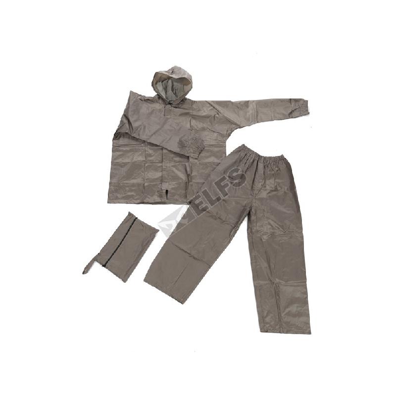 Elfs Shop Jas Hujan Setelan Jaket Raincoat Polos Coklat Muda