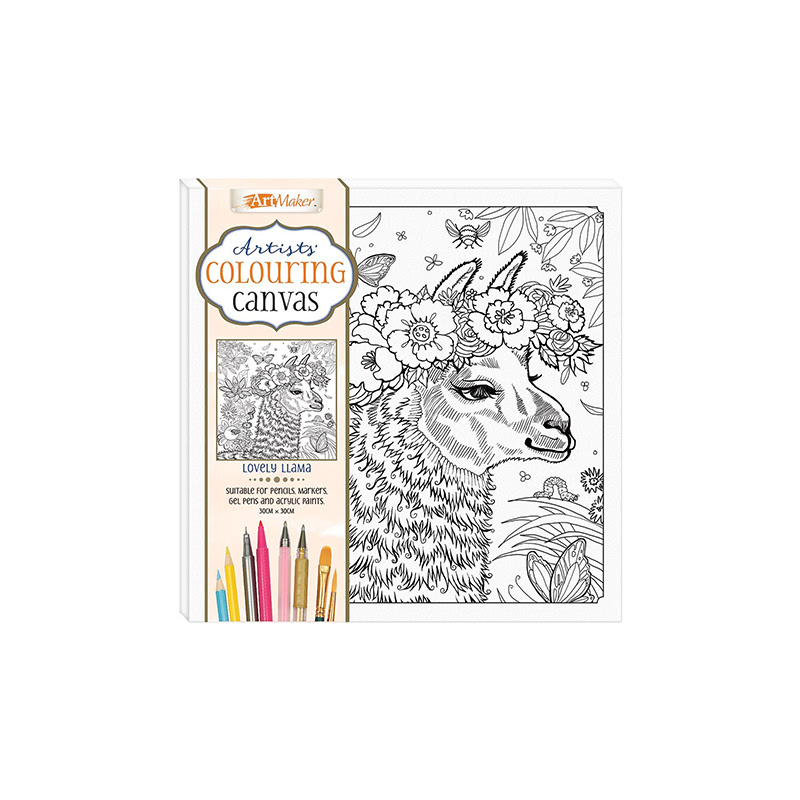 Artists Colouring Canvas