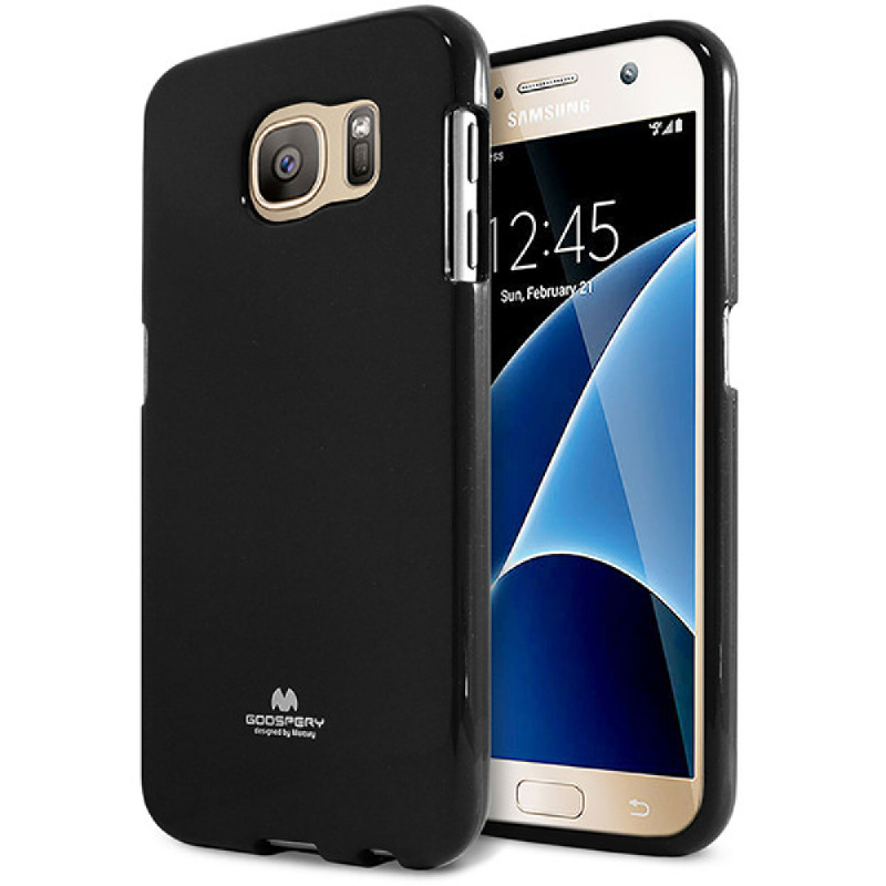 Goospery Jelly Case for Samsung Galaxy S7 - Hitam