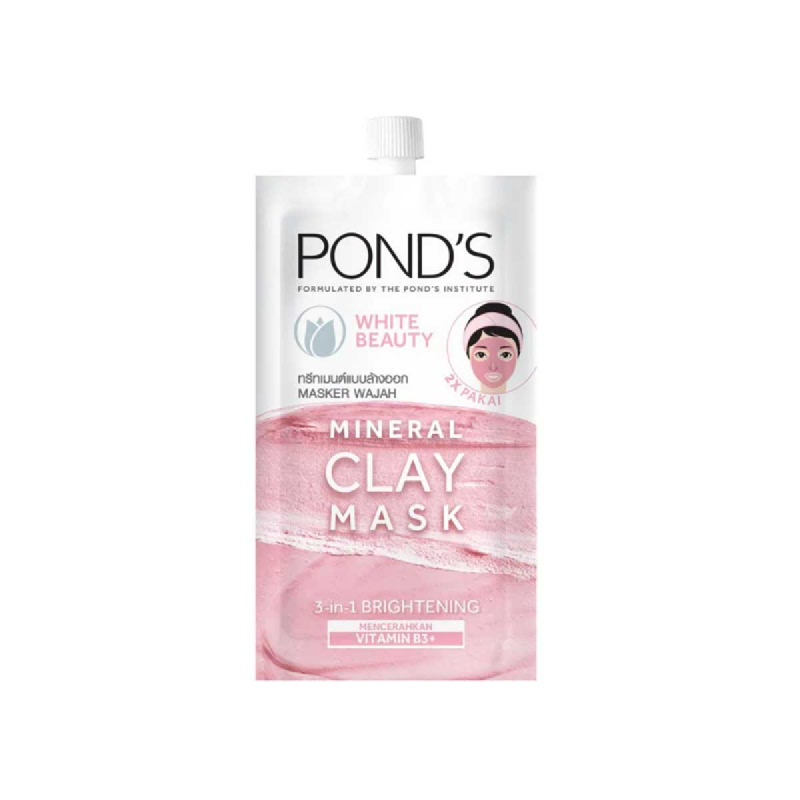 Ponds Pure White Beauty Mineral Clay Mask 8 Gr