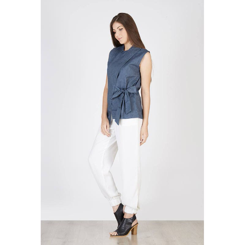 Pais Knot Over Shirt Blue