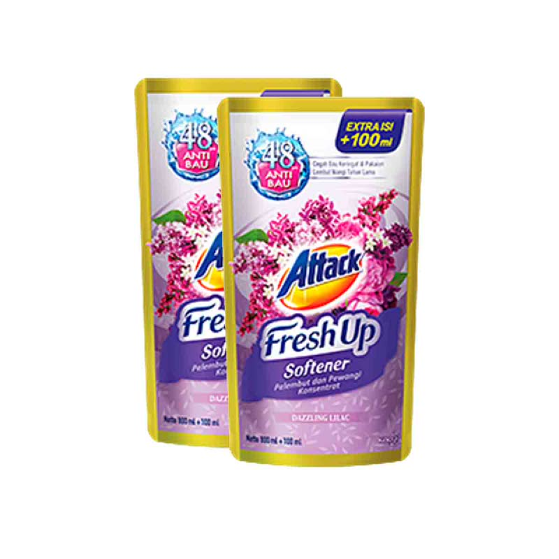 Attack Fresh Up Soft Dazzling Lilac 800 Ml (Get 2)